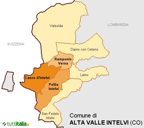 Cartina Alta Valle Intelvi