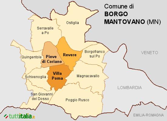 Cartina Borgo Mantovano