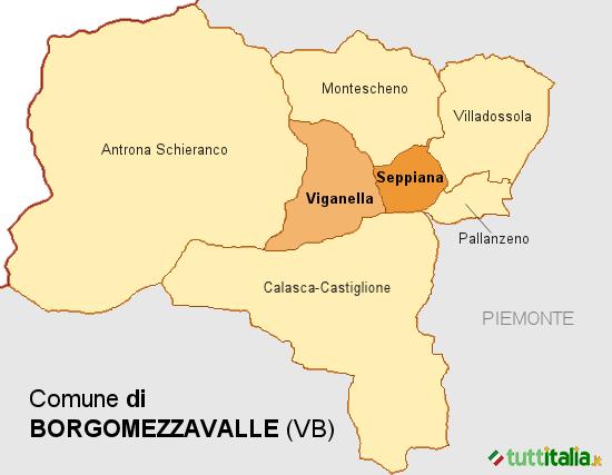 Cartina Borgomezzavalle