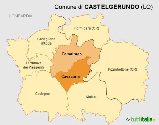Cartina Castelgerundo