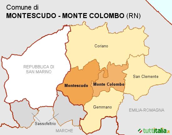 Cartina Montescudo-Monte Colombo