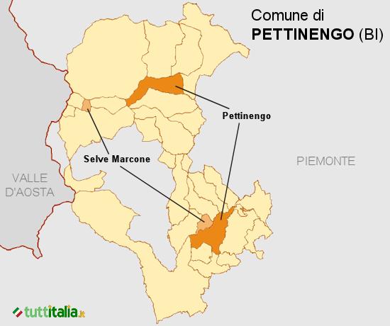 Cartina Pettinengo