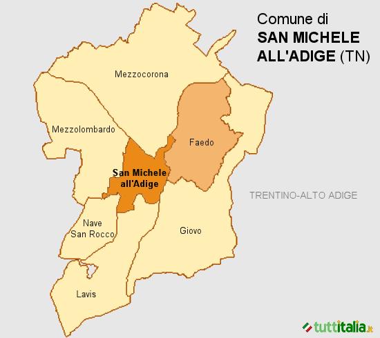 Cartina San Michele all'Adige