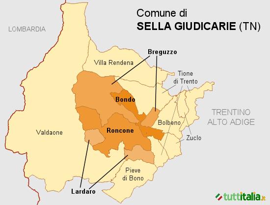 Cartina Sella Giudicarie