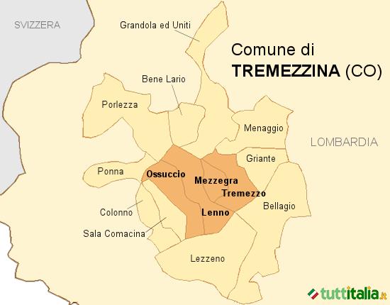 Cartina Tremezzina