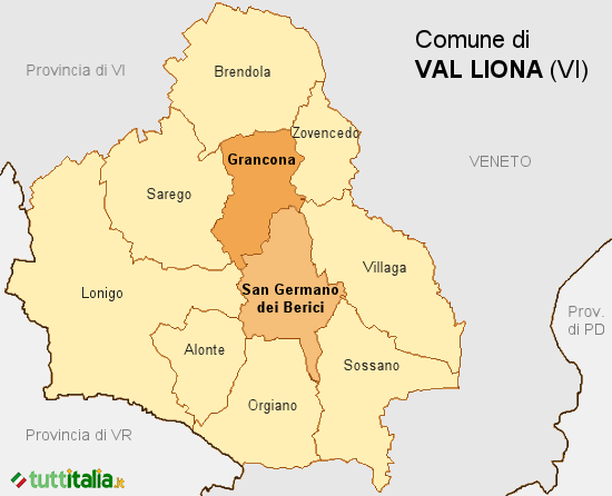 Cartina Val Liona