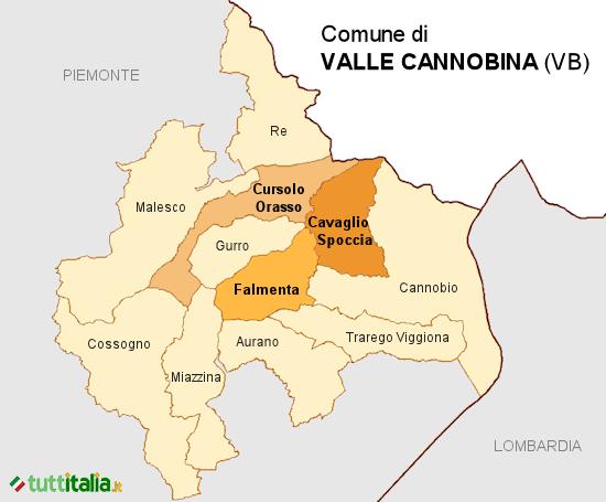 Cartina Valle Cannobina