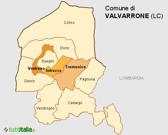 Cartina Valvarrone