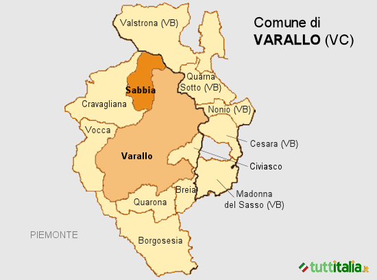 Cartina Varallo