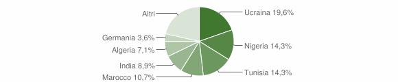 Grafico cittadinanza stranieri - stigliano 2005