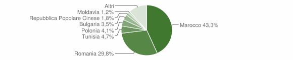 Grafico cittadinanza stranieri - Guardavalle 2017