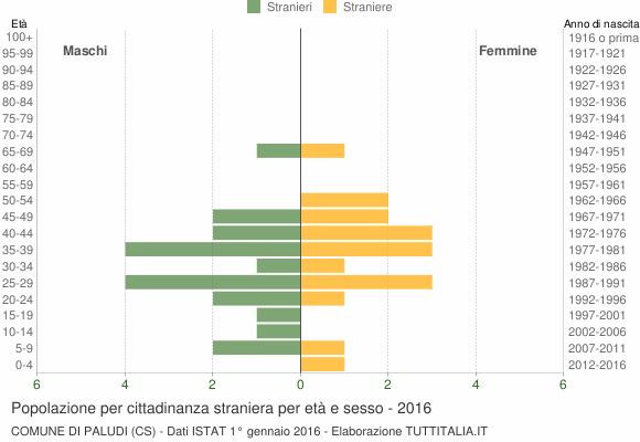 Grafico cittadini stranieri - Paludi 2016