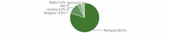 Grafico cittadinanza stranieri - Bocchigliero 2014