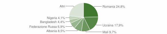 Grafico cittadinanza stranieri - Sant'Agata de' Goti 2016