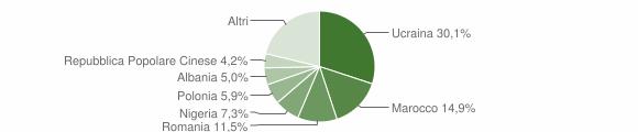 Grafico cittadinanza stranieri - Teverola 2015