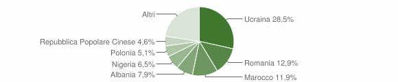 Grafico cittadinanza stranieri - Teverola 2017