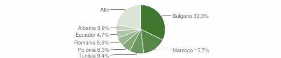 Grafico cittadinanza stranieri - Montiano 2011