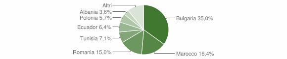 Grafico cittadinanza stranieri - Montiano 2014
