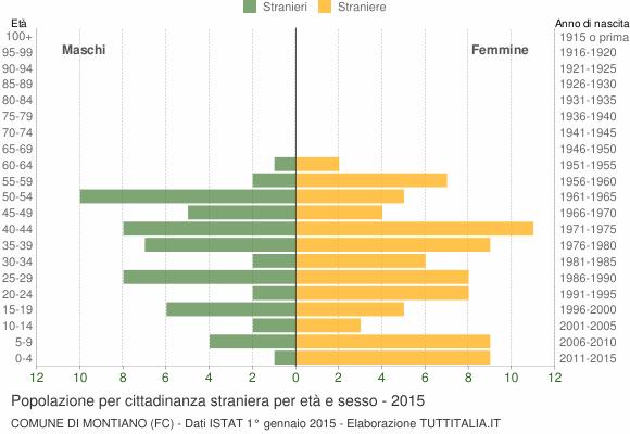 Grafico cittadini stranieri - Montiano 2015
