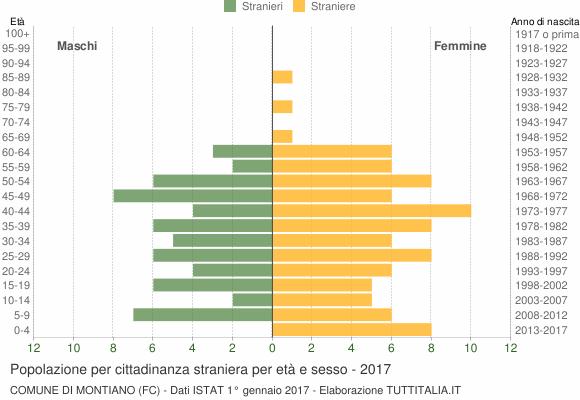 Grafico cittadini stranieri - Montiano 2017