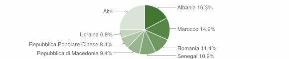 Grafico cittadinanza stranieri - Verucchio 2017