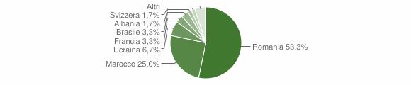 Grafico cittadinanza stranieri - Brossasco 2016