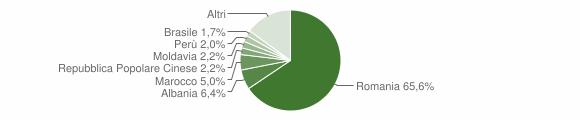 Grafico cittadinanza stranieri - Volpiano 2017
