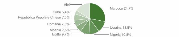 Grafico cittadinanza stranieri - Vespolate 2016