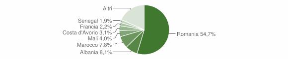 Grafico cittadinanza stranieri - Almese 2017
