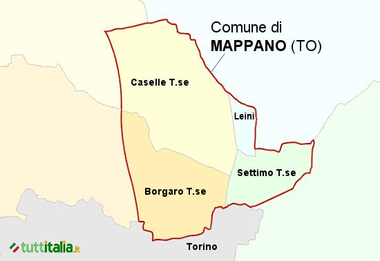Cartina Mappano (TO)