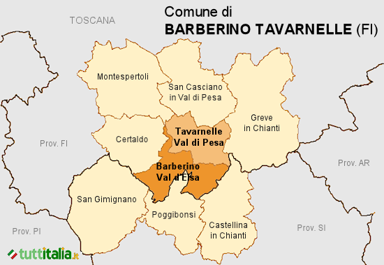 Cartina Barberino Tavarnelle