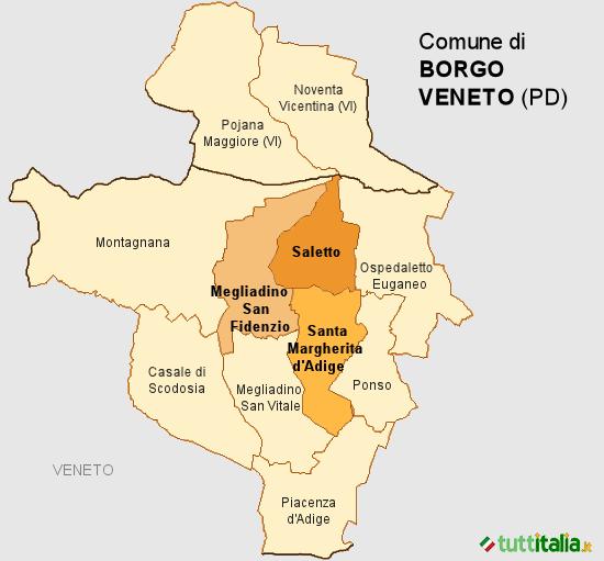 Cartina Dei Comuni Del Veneto.Il Nuovo Comune Di Borgo Veneto Pd