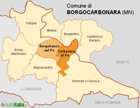 Cartina Borgocarbonara