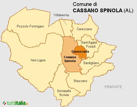 Cartina del Comune di Cassano Spinola