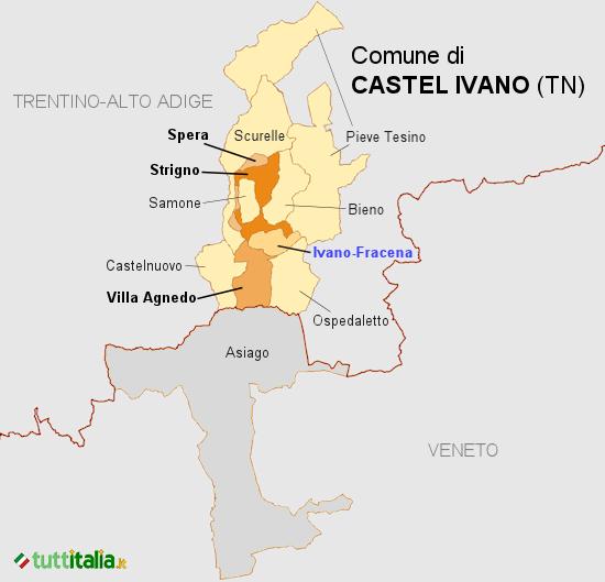 Cartina Castel Ivano