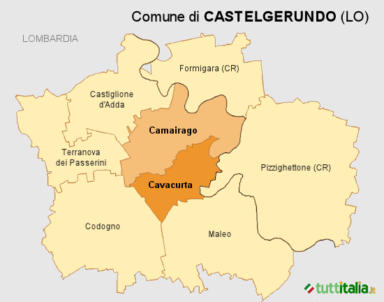 Cartina Castelgerundo