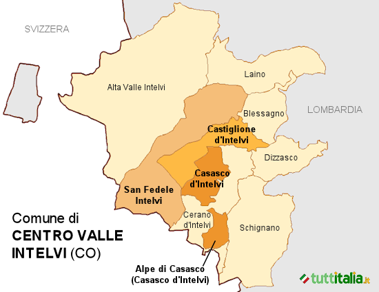 Cartina Centro Valle Intelvi