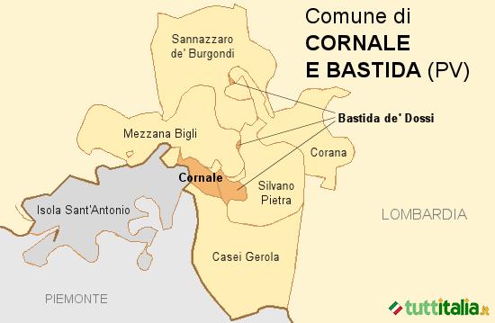 Cartina Cornale e Bastida