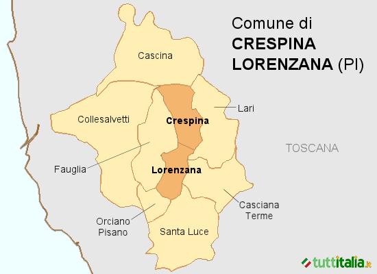 Cartina Crespina Lorenzana