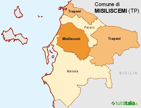 Cartina del Comune di Misiliscemi