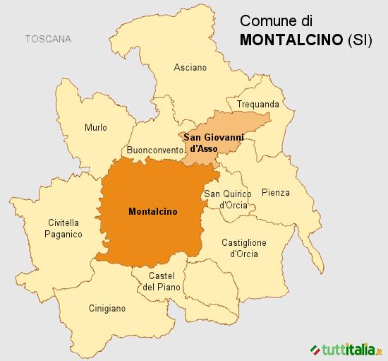Cartina Montalcino