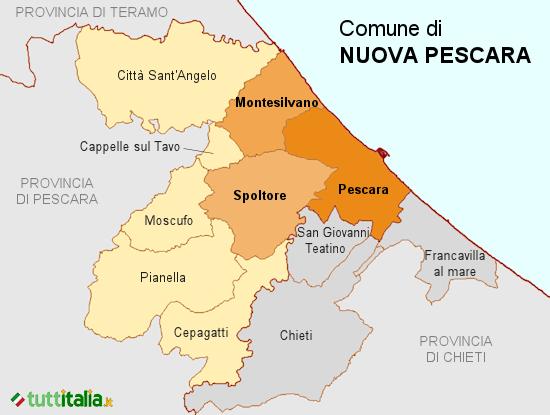 Cartina del Comune di Nuova Pescara