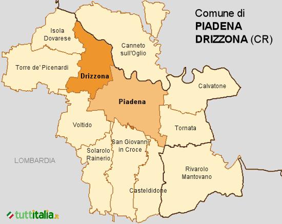 Cartina del Comune di Piadena Drizzona