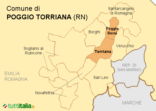 Cartina Poggio Torriana