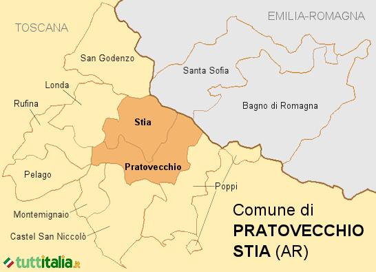 Cartina Pratovecchio Stia