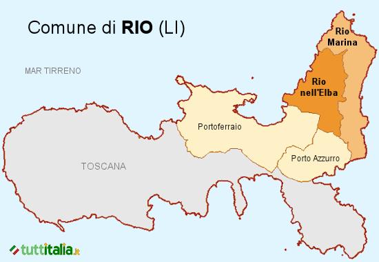 Cartina del Comune di Rio