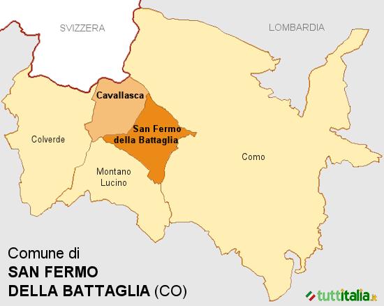Cartina San Fermo della Battaglia