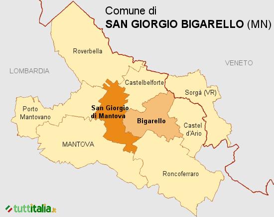 Cartina del Comune di San Giorgio Bigarello
