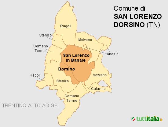 Cartina del Comune di San Lorenzo Dorsino