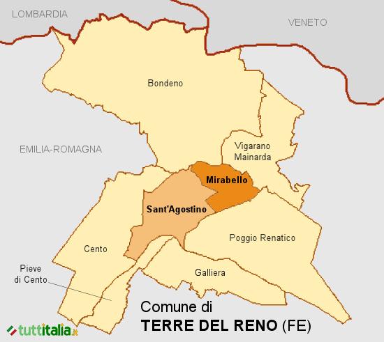 Cartina Terre del Reno